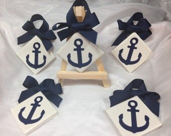 Anchor ornaments/gift tags-set of 5 nautical