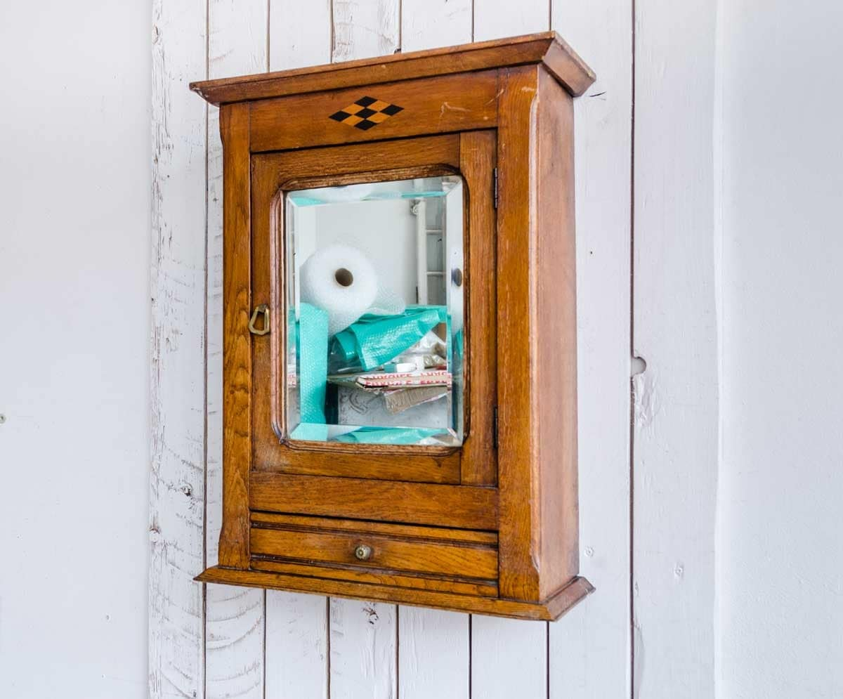 vintage bathroom mirror nouveau wood mirror cabinet early 20thc cabinet vintage 14961