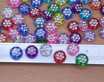 150pcs color plastic beads finding,flat round flashy plastic beads supply.colorful plastic beads wholesale.plastic bracelet links