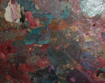 Abstract vintage oil painting
