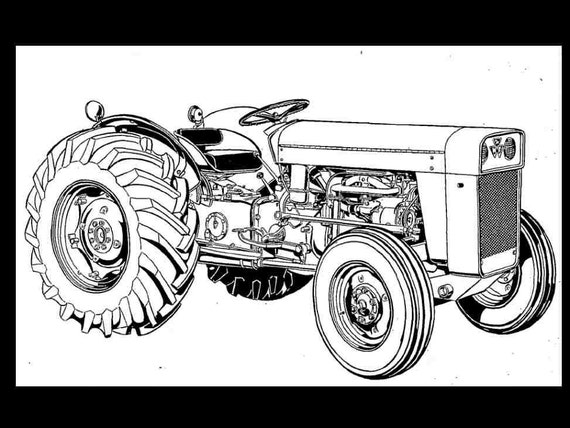Massey Ferguson To 35 Mf 202 204 Tractor Parts Manual Gas