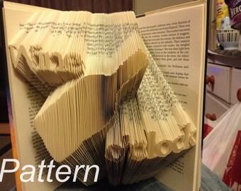 Wine O'clock Book Folding Pattern