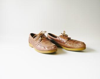 Men's Vintage Leather Levi Loafers / Size 9