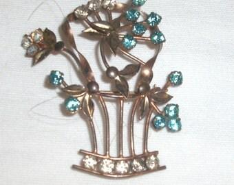 Vintage Gold Washed Brooch/Pin