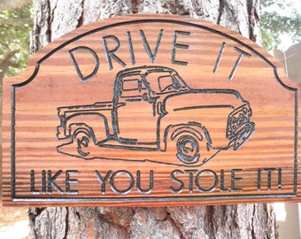 Wood sign plaque, Auto decor sign, Truck signs, Car signs, Man cave stuff, Motorcycle sign, Man cave sign