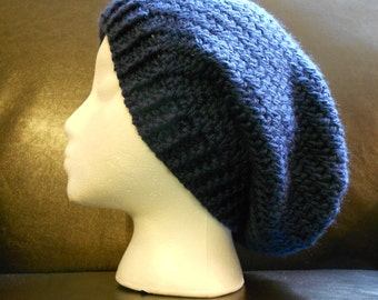 Navy Blue Slouchy Hat