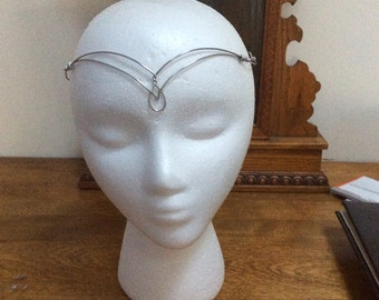 Silver elven circlet, celtic circlet, elven headpiece, princess, fairy, fae crown