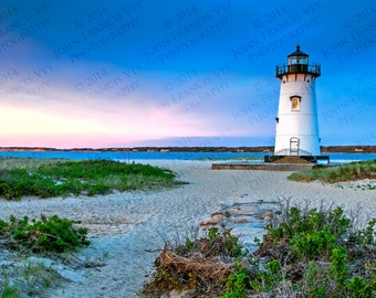 Martha's Vineyard Edgartown Lighthouse - Photographic Print on Glossy Paper or Vibrant Metal - Contemporary Fine Art Photography