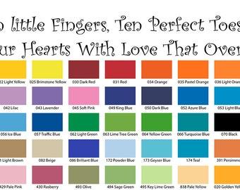 Ten Little Fingers Ten Perfect Toes Wall Quote