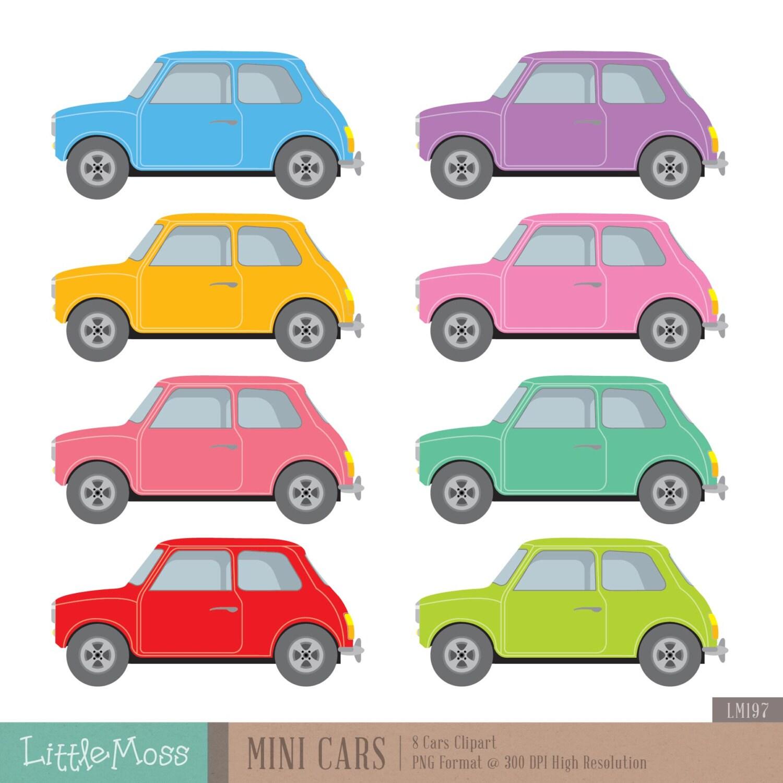 Mini Cars Digital Clipart From LittleMoss On Etsy Studio