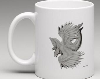 Angelic Dolphin Art Print Mug