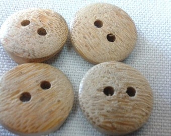 Bamboo Buttons 1/8 Inch Thick, 5/8 Inch Wide (4 buttons)