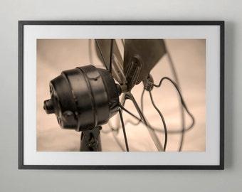 Antique Electric Fan, Vintage Electric Fan Print, Photography.