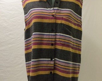 Vintage No Barriers sleeveless button down top