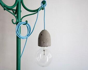 Concrete Lamp Holder, dark gray Concrete socket, for Pendant lamp