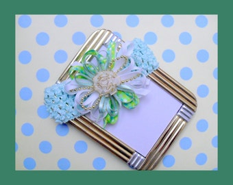 Green Soft Stretch Baby Headband