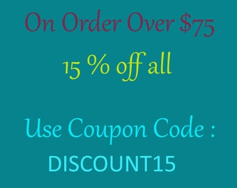 DISCOUNT 15% Off All- Use Coupon Code : DISCOUNT15