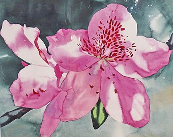 "William Garbe ""Blossom"" Watercolor 1978"