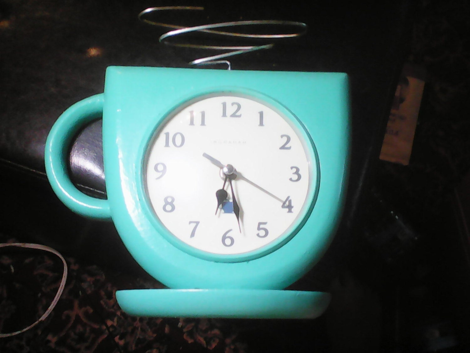 Vintage Turquoise Coffee Cocoa Cup Kitchen By