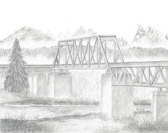 Drawing Snohomish Train Trestle