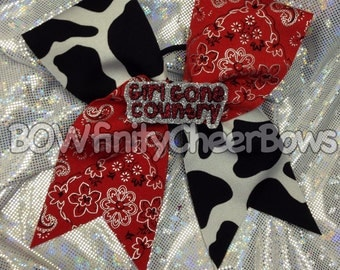 Girl Gone Country Cheer Bow