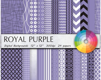 purple digital scrapbooking Paper, Digital Scrapbook Paper Pack -scrapbook paper 12x12 Instant Download Digital Paper