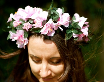 Handmade Pretty Country Garden Floral Faery Garland Headdress Festival Costume Accessory