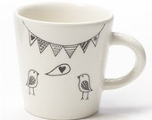 Ceramic Coffee Cup - Bird...