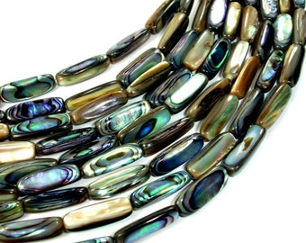 Abalone Beads, Stick, Approx 5 x 12mm, 15.5 inch, Full strand, Approx 32 beads, Hole 0.8 mm (101059001)