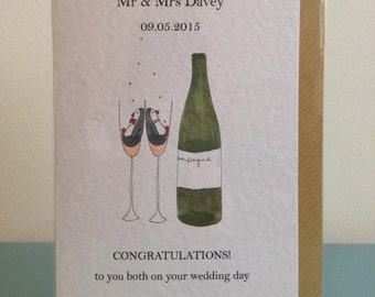 Personalised Wedding Congratulations card
