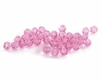 Swarovski Crystal 5mm Round Bead 5000 Light Rose