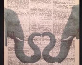 Heart trunk elephant etsy for Elephant heart trunk