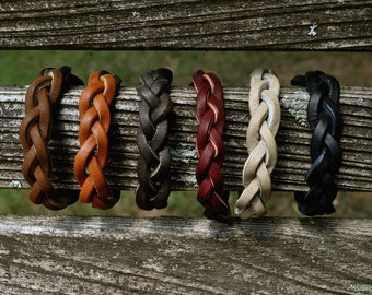 Braided Leather Essential Oil Diffuser Bracelet