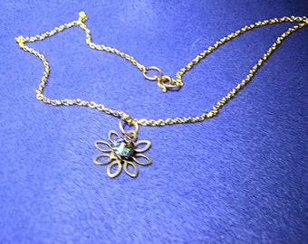 Crystal Centered Flower Necklace
