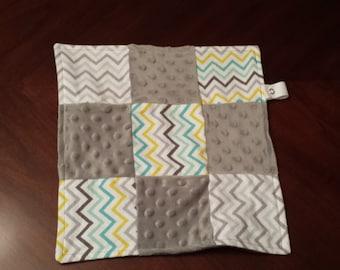 Baby Blanket, Lovey, Lovie, Lovee, Snuggle blanket, security blanket, pacifier holder, gender neutral