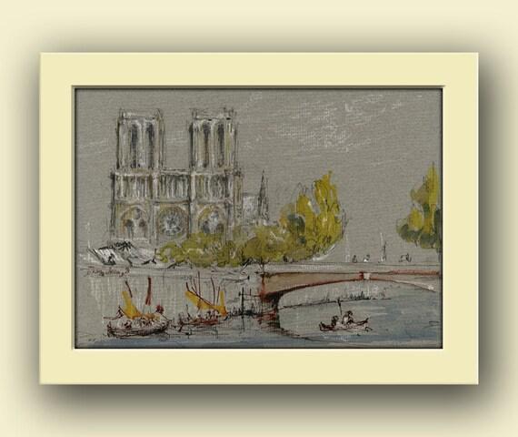 Paris city notre dame paris city decor paris original art for Notre dame home decor