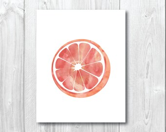 Watercolour Orange - Wall/Art Print A5, 20x25cm, A3