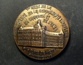 Luxembourg 1952 Bronze Building Medal