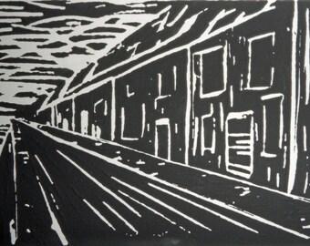 Through the Streets Giclee Art Print