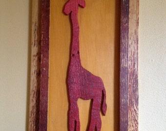 Reclaimed Red Giraffe