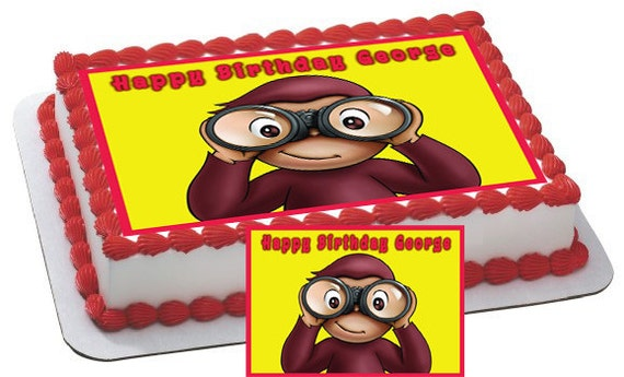 Edible Cake Images Curious George : Curious George 2 Edible Cake & Cupcake by CakeTopperSpecialist