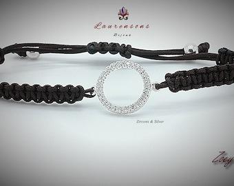 """Pulsera/Bracelet Zoey IV  """"Zircons & Silver 925"""""""
