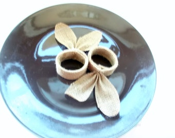 Napkin Rings / Burlap Wedding Napkin Rings / Rustic Wedding Decor / Rustic Wedding Napkin / Wedding Table Decor / Rustic napkin holders