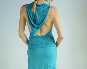 Cascade Hooded Dress, Burning Man, Festival Attire