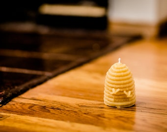 100% Beeswax Beehive Candle