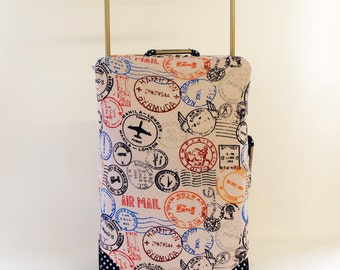 Travel Stamps Design Caseskinz Suitcase Cover Easily Identify Your Case On The Carousel