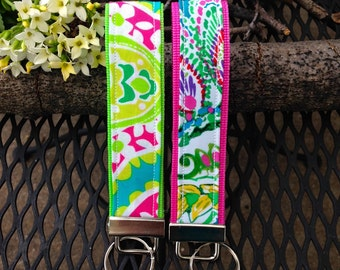 Key Fob Wristlet - Bright Summer Colors