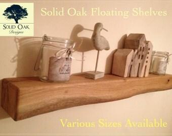 Solid Oak Floating Mantel/Shelf. Beautifully finished