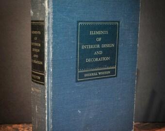 Antique Interior Design Book Circa 1951