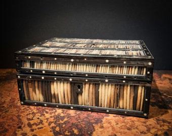 Handmade Large Srilankan Porcupine Quill Box